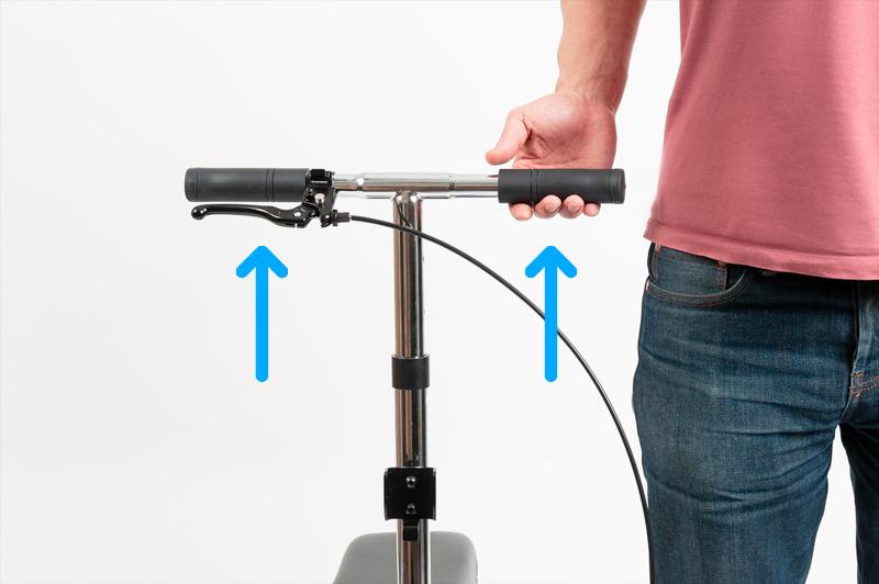 Proper knee scooter handlebar height