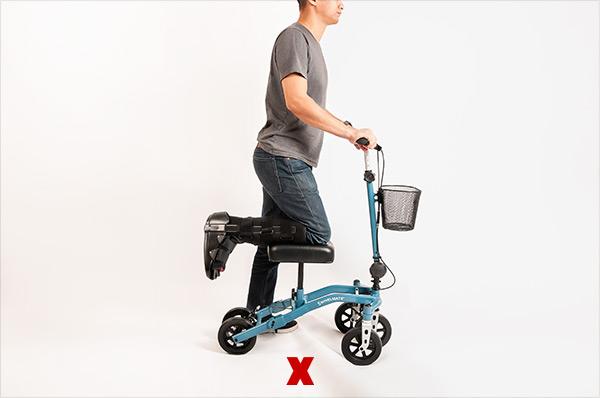 incorrect knee walker posture