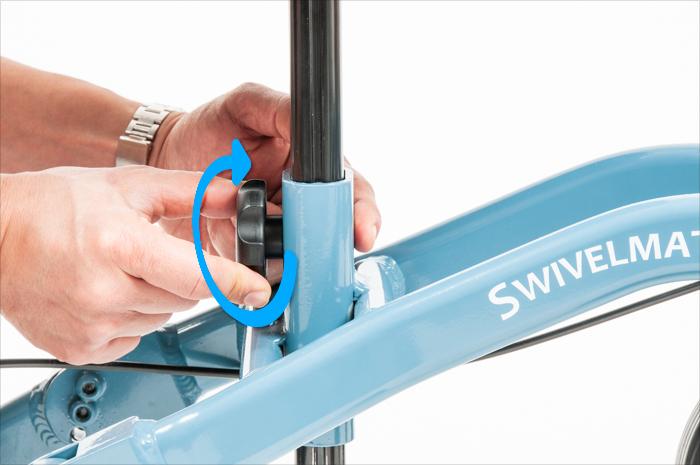 knee rest adjustment knob