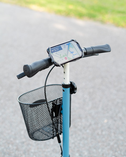 knee walker cellphone mount