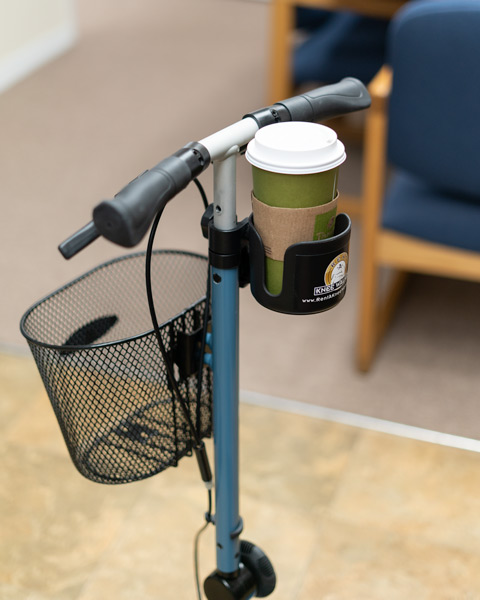 knee walker cup holder