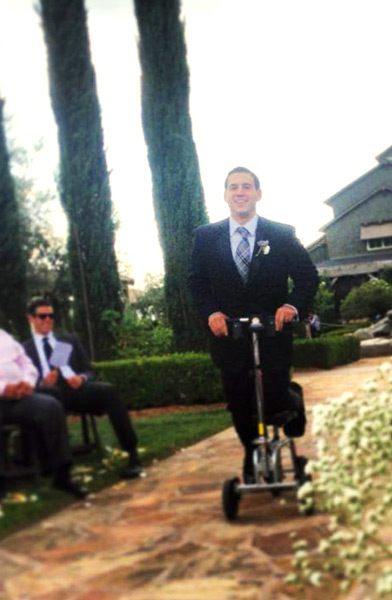 Attending a wedding with a knee scooter