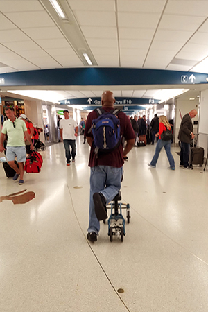 Traveling with a knee walker