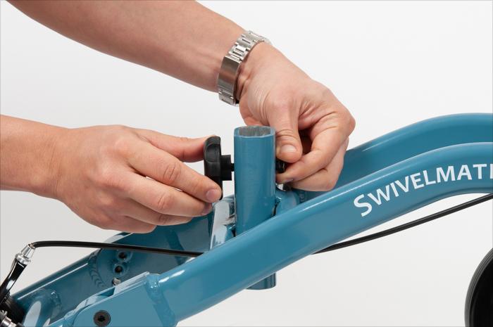 re-insert adjustment knob