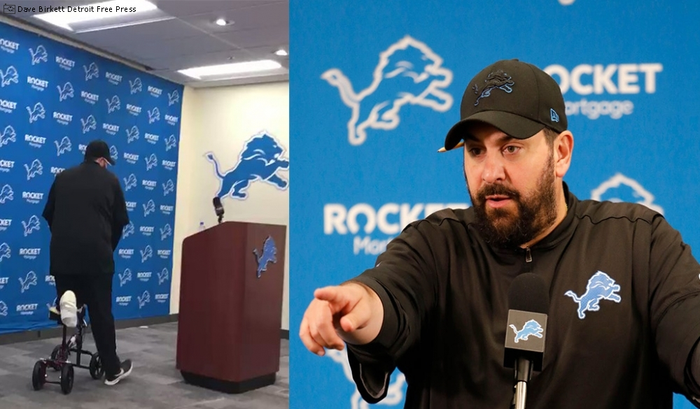 Detroit Lions Head Coach Matt Patricia Opens Training Camp On Knee Scooter Large Image