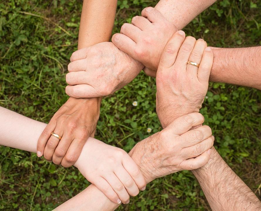 support hands