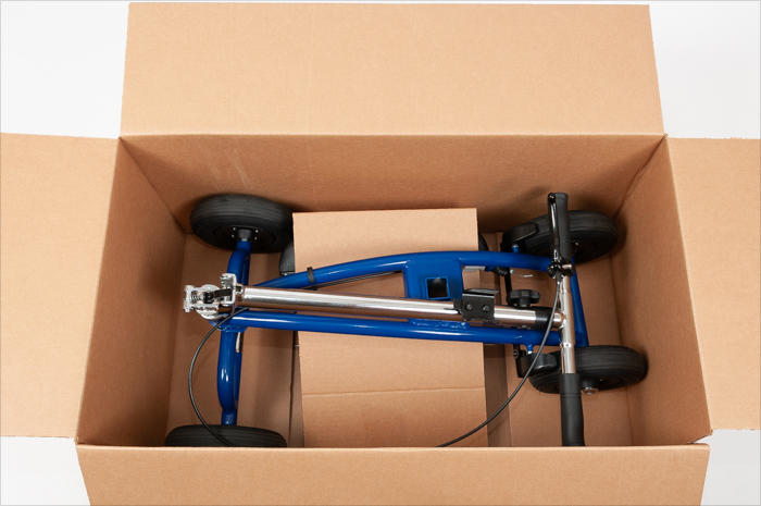 insert knee scooter into box