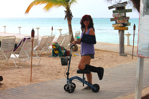 Sarah on vacation
