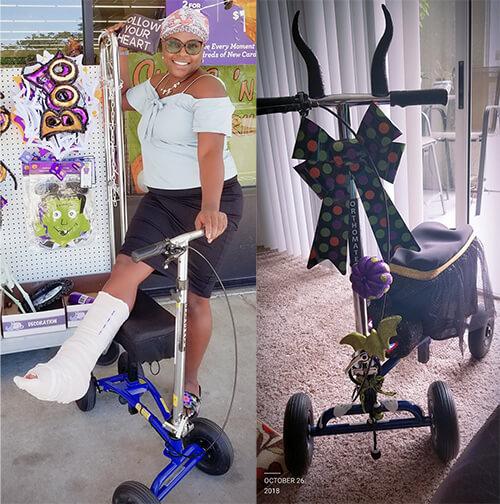 Markeyas Halloween designed walker