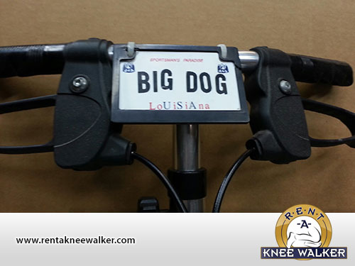 knee walker handle bars big dog