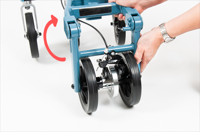 fold rear wheel frame 2