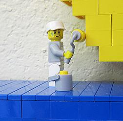 Lego minifigure painter