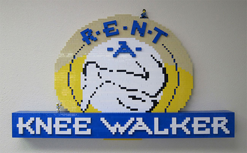 Our Logo Made From Thousands of Lego Bricks Large Image