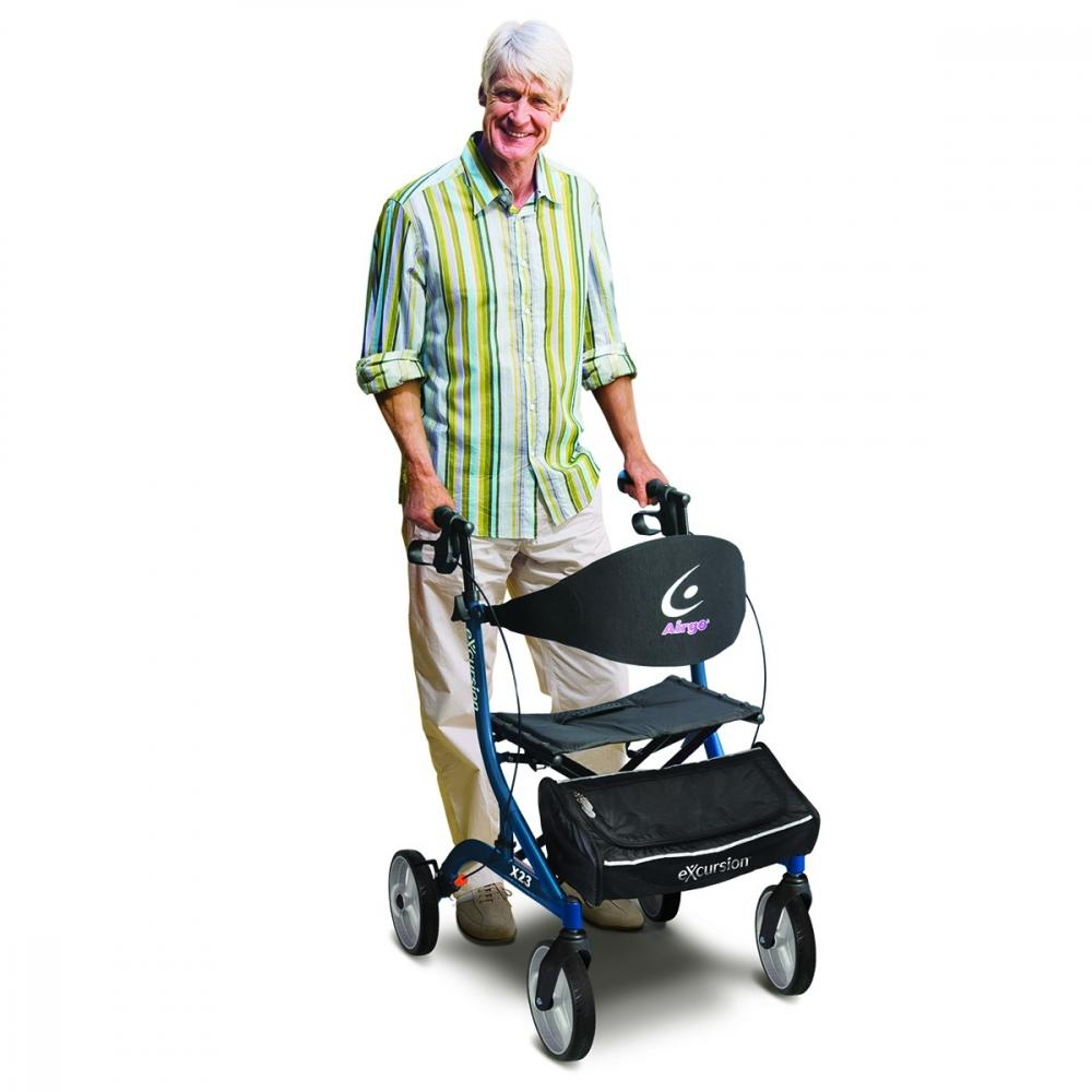 man standing with rollator