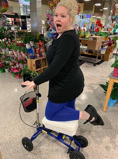 knee walker at supermarket