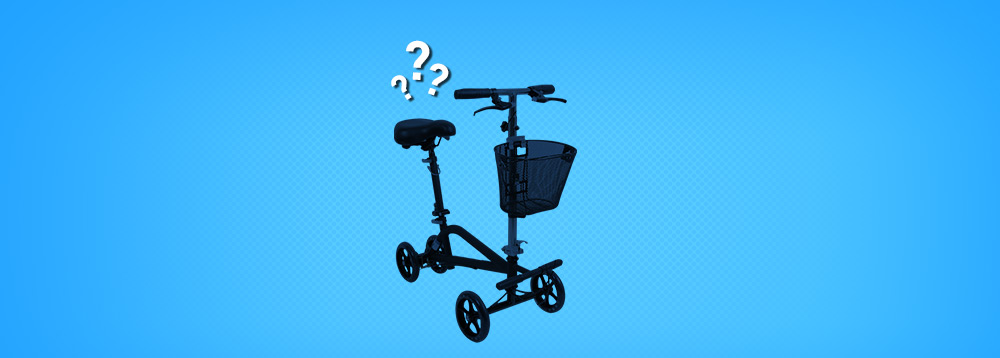 What is a Seated Knee Scooter? Large Image