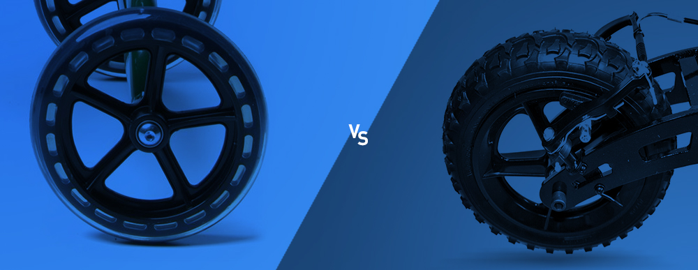 Solid Tires VS. Air-Filled Tires Large Image