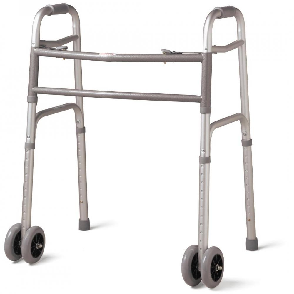 Walker-Two Button Folding, Front Wheels