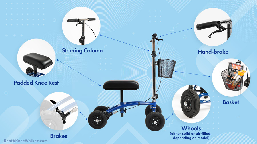 what does a knee walker scooter look like