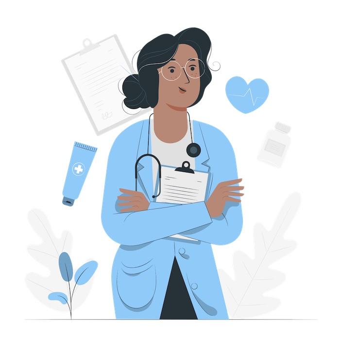 female doctor posing